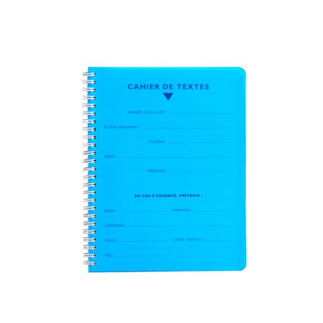 Cahier de textes - Polypro - 170 x 220 mm : CLAIREFONTAINE
