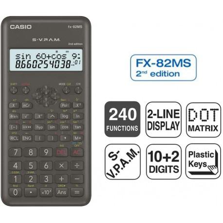 Calculadora Científica Casio FX-82 MS-2 edición 240 funciones