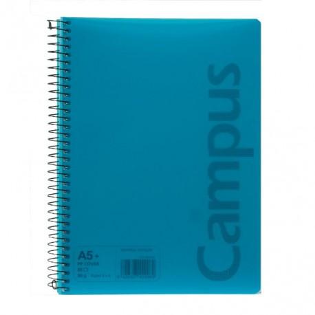 Cuaderno   A5+ 80h tapa polipropileno 90gr cuadrícula 4x4