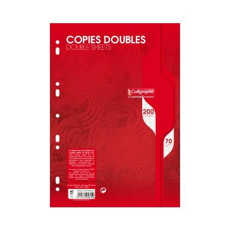 Recambio Hojas  dobles  Seyès A4   200 páginas  Grands carreaux