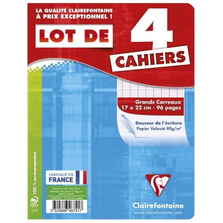 Lote de 4 cuadernos A5 (17X22 cm.) Séyès 96 pg.