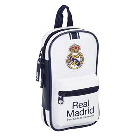 Plumier mochila con 4 portatodos llenos Real Madrid 33 Piezas