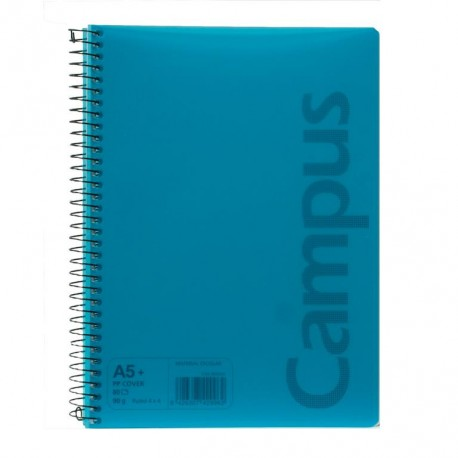 Cuaderno   A5+ 80h tapa polipropileno 90gr Raya Horizontal