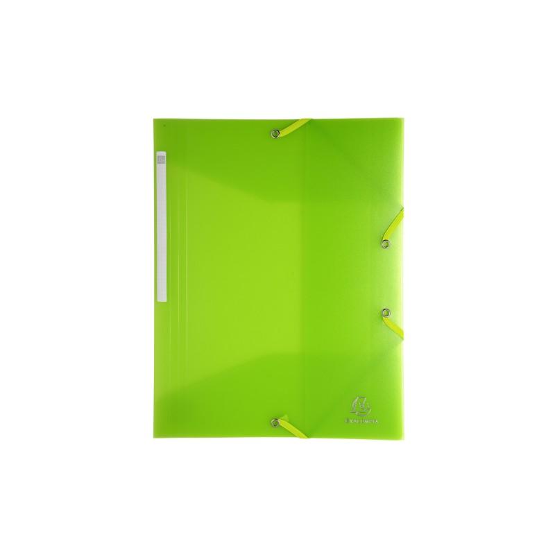 Carpeta con cierre mediante goma color amarillo ne/ón A3 polipropileno 1 unidad TTO 406227